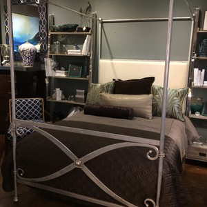 Canopy Queen Metal Bed from Corsican