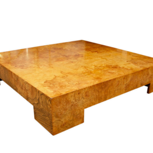 Milo Baughman / Thayer Coggin burl coffee table