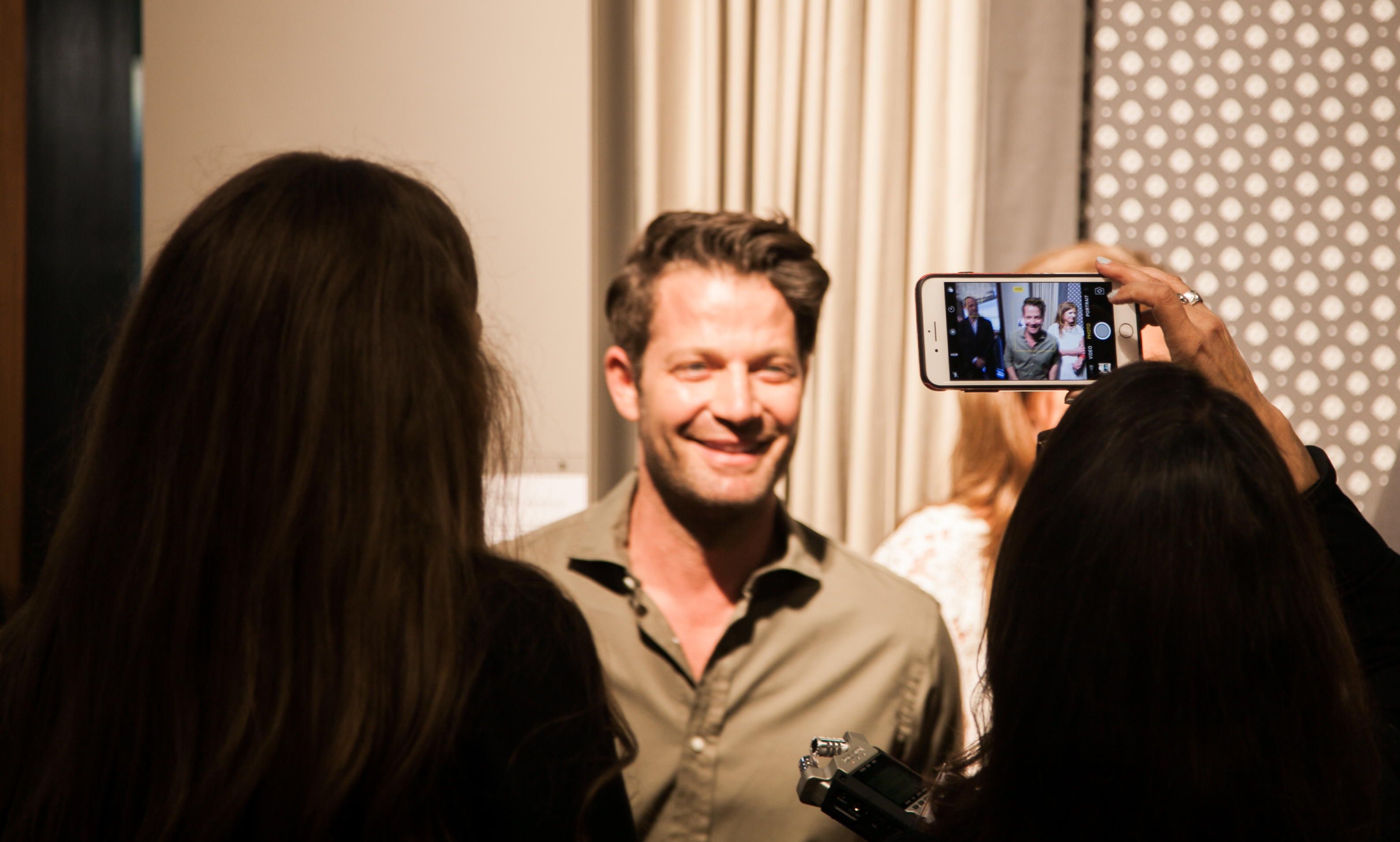 Nate Berkus celebrating his new collection