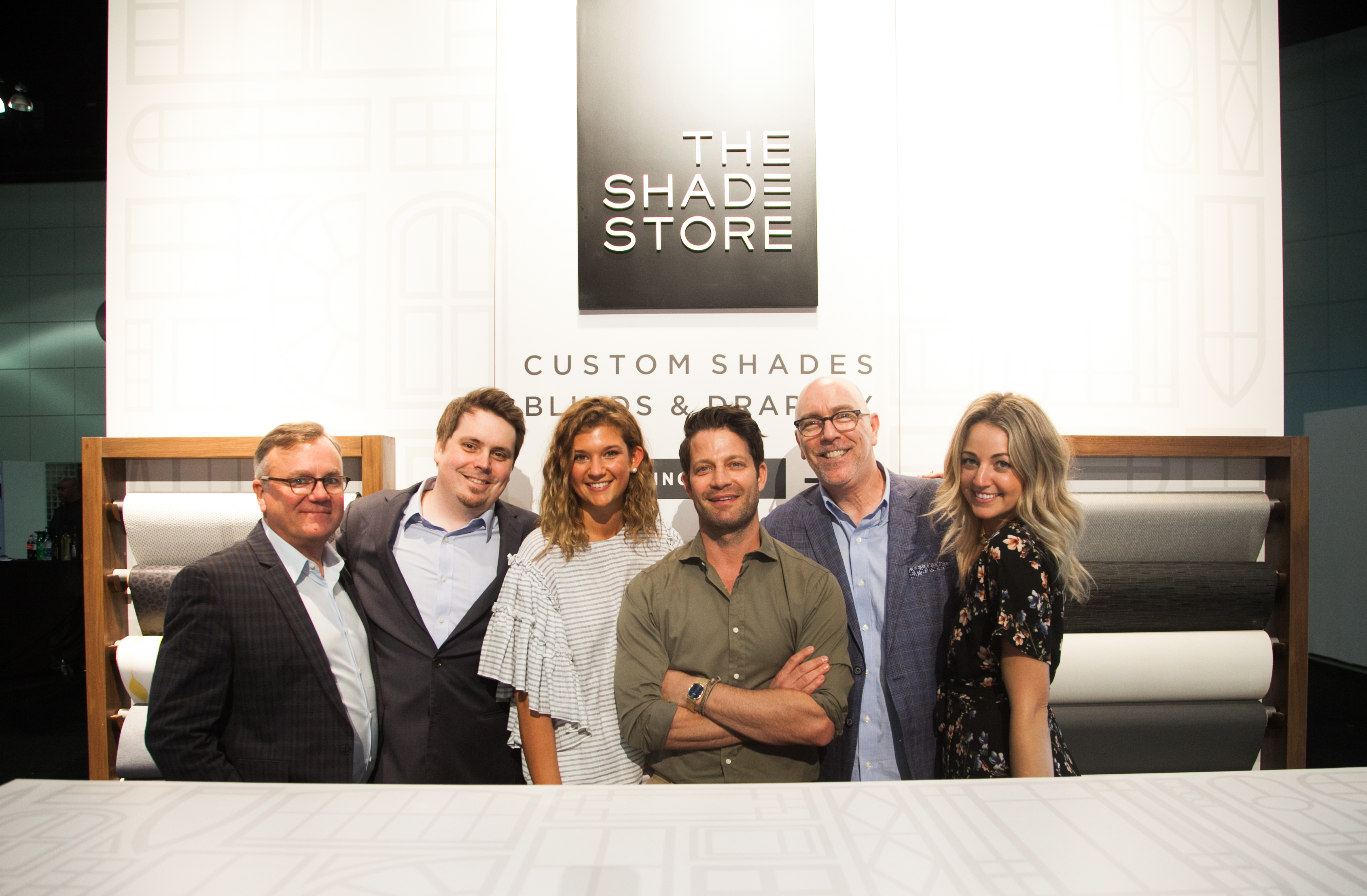 The Shade Store team: Michael Crotty, Adam Skalman, Lauren Murphy, Nate Berkus, Kenneth Smith and Whitney Marcus