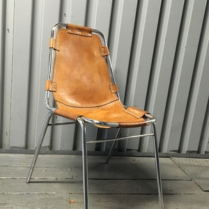 Vintage leather chair by Charlotte Perriand