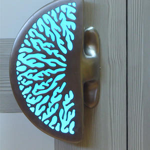 Coral illuminated door handle blue single