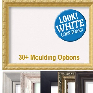 NEW Framed WHITE Colored Corkboards