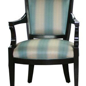 Carlyle chair blue stripe