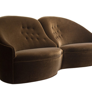 Dominique sofa brown
