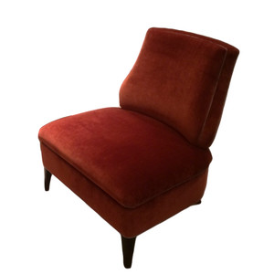 21 slipper chair blood orange