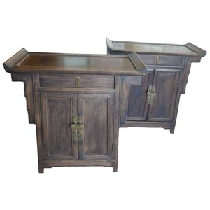 Pair of Chinese Wood Side Cabinets