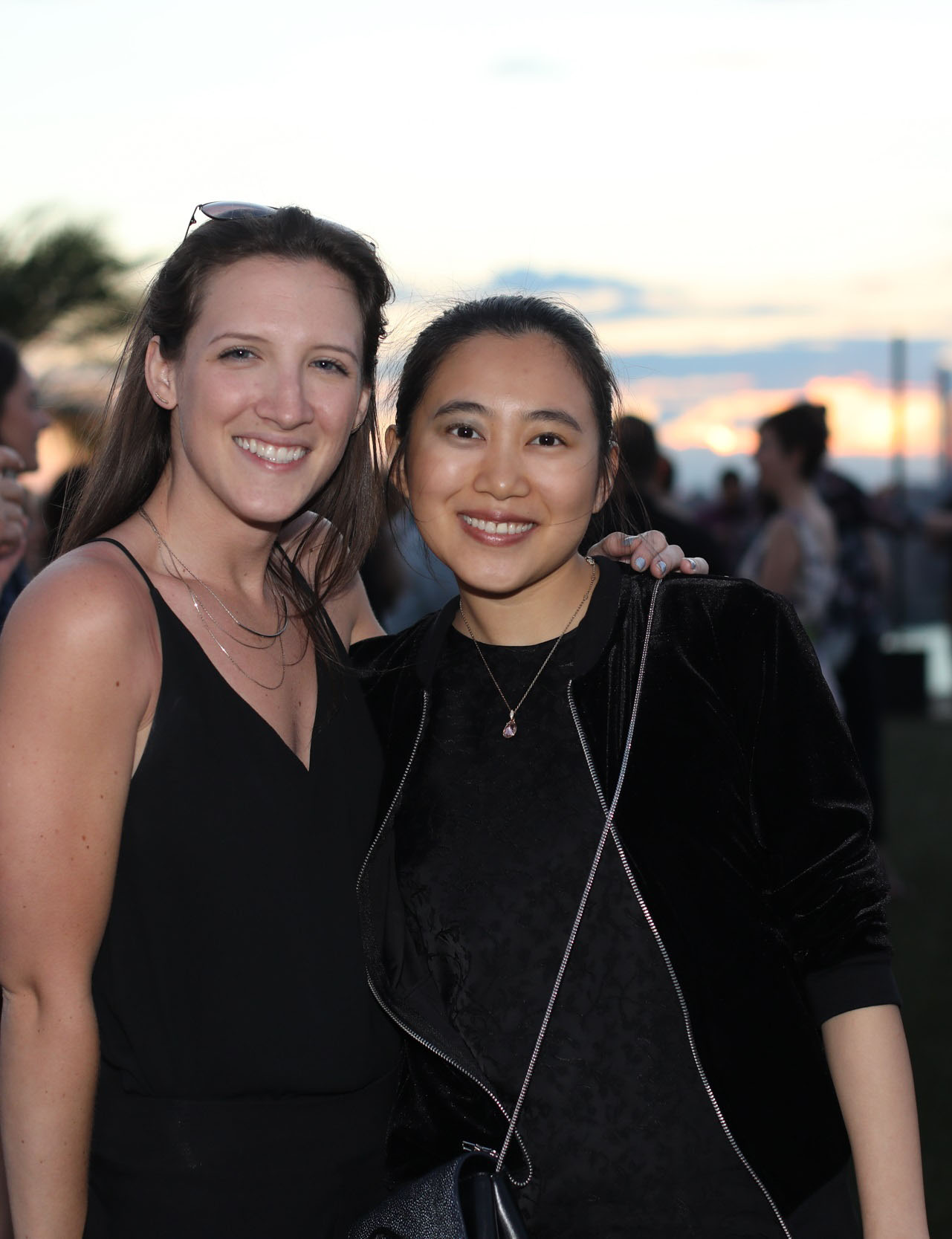 The outgoing and incoming student representatives to the ASID New York Metro board, Bonnie Hoeker and Lucy Wang