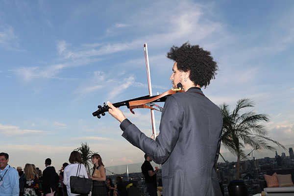 Entertainment was provided by a DJ and an electronic violinist.