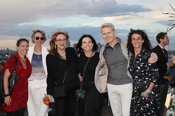 Jennifer Skoda, ABC Entertainment; Bonnie J. Steves, BJS Associates; Robin Baron, Robin Baron Design; Iris Dankner, Holiday House; Bjorn Bjornsson, incoming president of ASID NY Metro; and Barbara Schorr, Holiday House