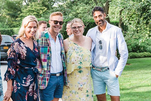Event hosts Michelle Newbery and Jill Waage with showhouse designer Eddie Ross and Jaithan Kochar