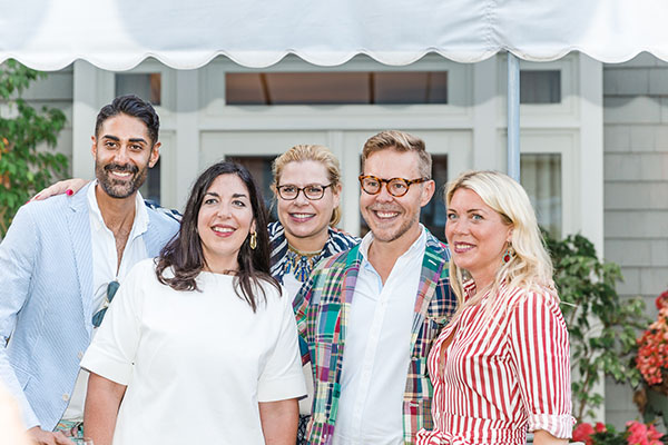 Jaithan Kochar; Elizabeth Blitzer of Blitzer & Company; Alexa Hampton, showhouse design co-chair; Eddie Ross, showhouse designer for The Mine; and Tori Mellott