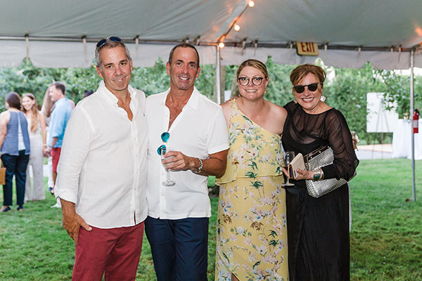 Mark Josephson, Keith Baltimore, Jill Waage, and Kim Radovich of Kim E. Courtney Interiors