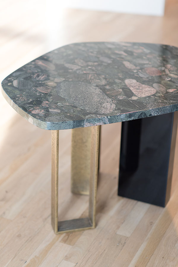 A closer look at a side table by Hervé Van der Straeten