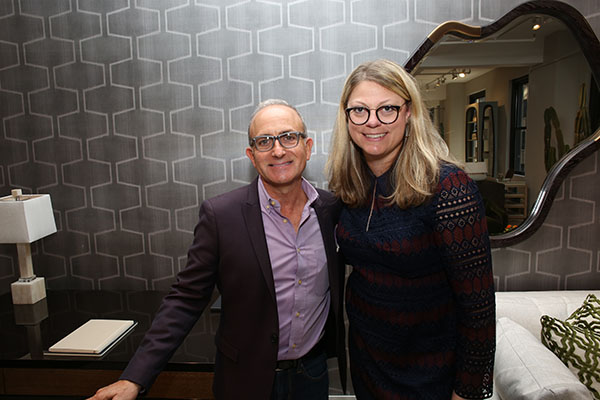 Michael Berman and Jill Waage, editor in chief of Traditional Home
