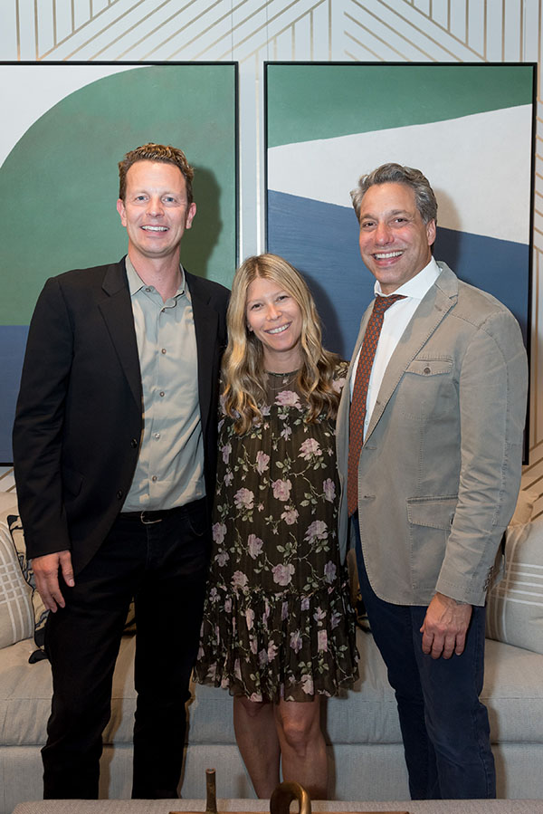 Domino CEO Nathan Coyle and editor in chief Jessica Romm Perez with Thom Filicia