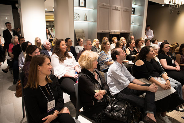 Guests take in Carisha Swanson and Summer Thornton's tips on kitchen design.