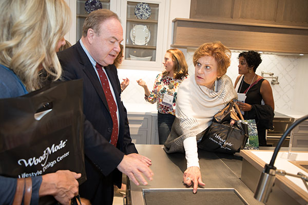 Guests view the new Edison Heights collection.