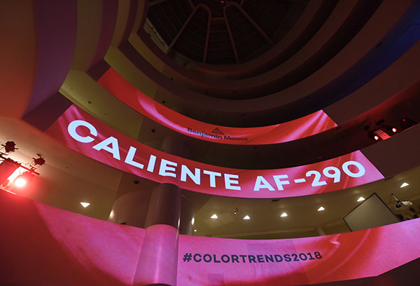 Benjamin Moore declares Caliente AF-290, a vibrant, charismatic shade of red, its