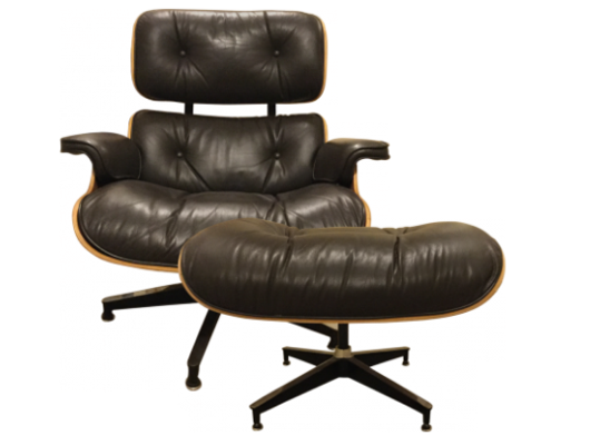 CHARLES AND RAY EAMES ARMCHAIR AND OTTOMAN