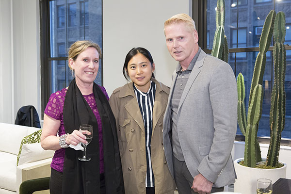 ASID New York Metro board members Diana Mosher and Lucy Wang with ASID New York Metro President Bjorn Bjornsson