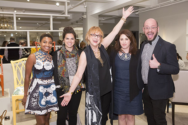 Former ASID NY Metro president Robin Baron (center) with her team