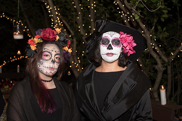 The servers were in full Dia de los Muertos attire.