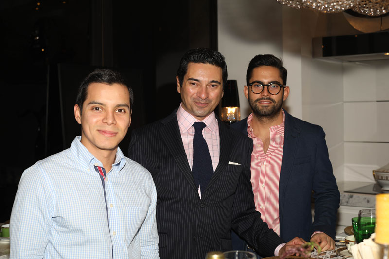 Nelson Sanchez, Asler Valero and Gabriel Briceño