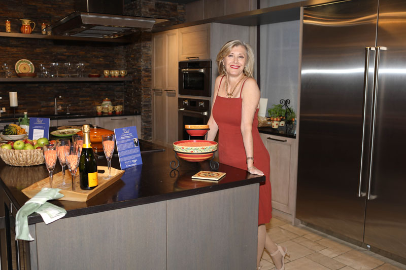 Julie Schuster  in the kitchen she styled
