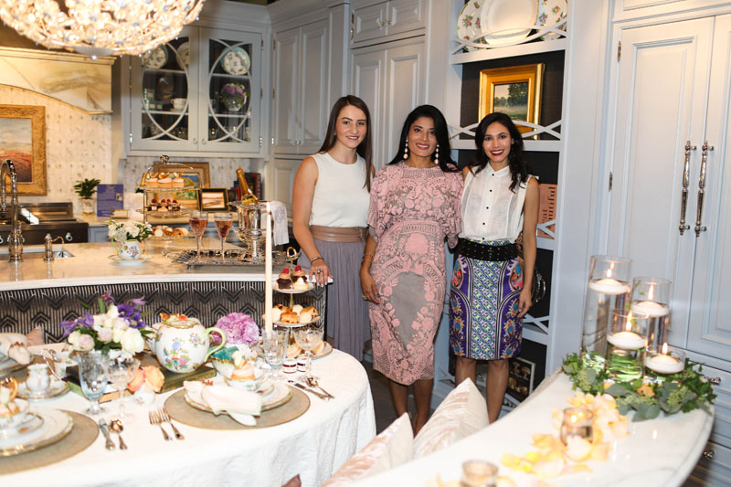 Designer Rajni Alex (center) with design associates Katie Segelstein and Jessica Gallardo