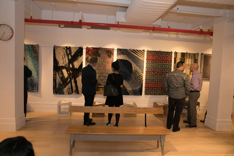 Guests viewing the collection
