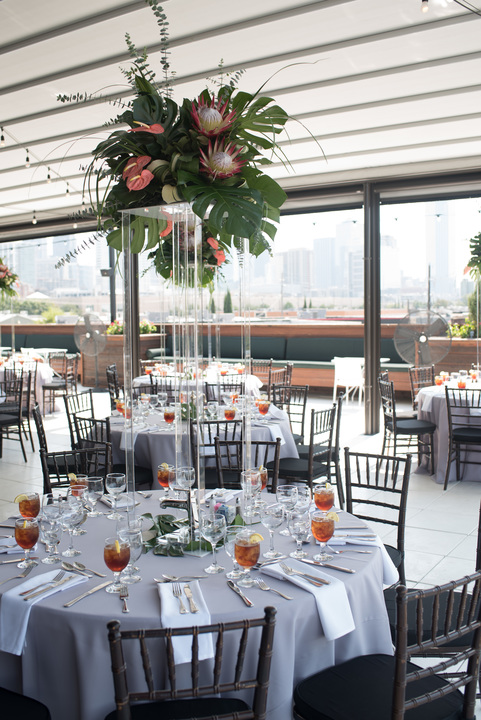 Guests were treated to a rooftop lunch overlooking the city skyline.
