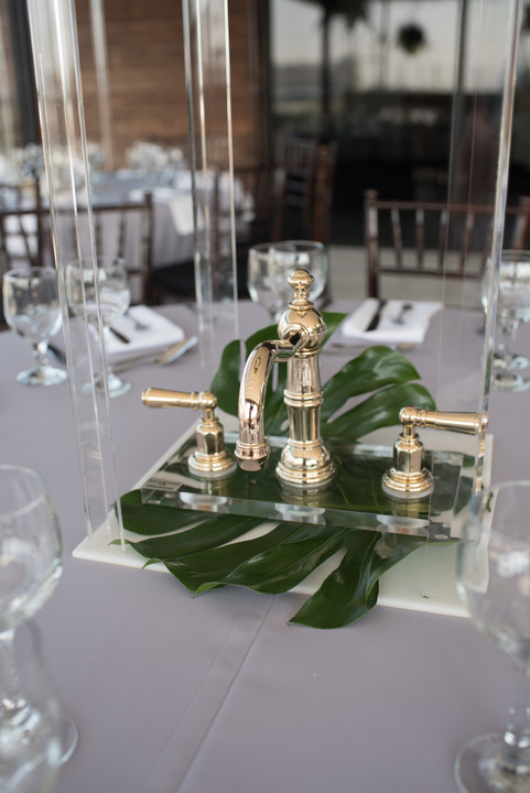 Each centerpiece featured a ROHL kitchen or bath faucet.