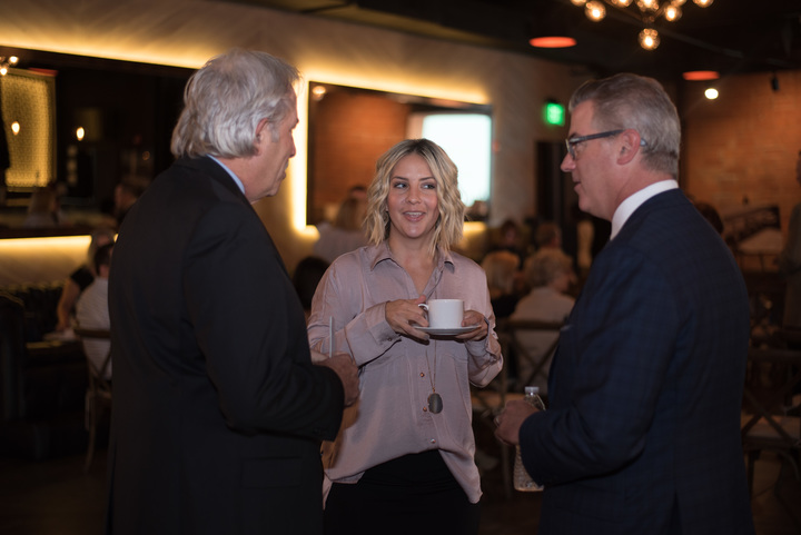 Greg Rohl meets with guests prior to the start of the ROHL Auth Lux Summit.