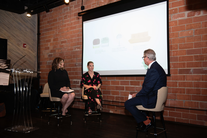 Greg Rohl moderates a discussion with Denise McGaha and Karen Marx on the topic of original design.