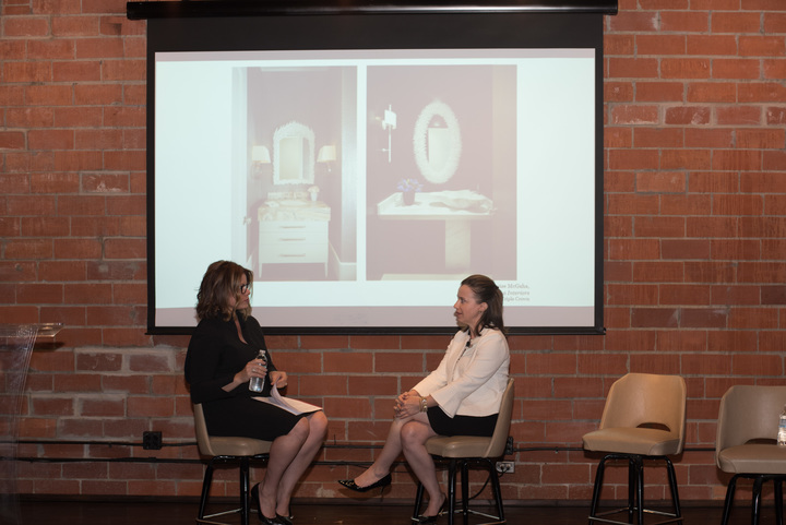 Denise McGaha and Colletta Conner, associate principal at ForrestPerkins, discuss the opportunity for collaboration between residential and commercial interior designers when working on boutique hospitality projects.