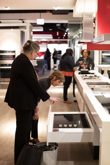 Guests explore the Miele Experience Center.