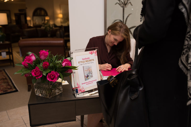 Sophie Donelson signing books for guests