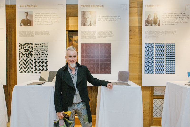 Martyn Thompson in front of his tile design