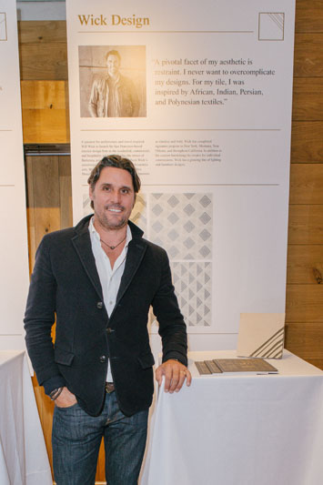 Will Wick in front of his tile design