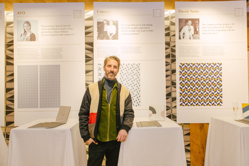 Mat Sanders of Consort with his tile design