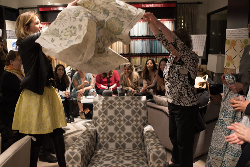 Linherr Hollingsworth and Ellen Kravet revealing the winning design