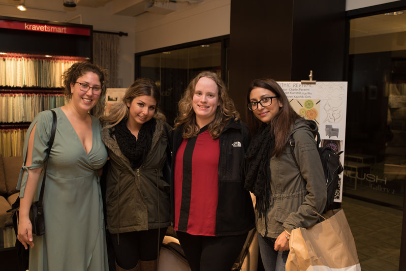 NYIT interior design students Kim Kedeem, Michelle Dahl, Danielle Joy and Jessica Johneas