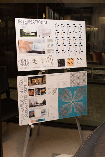 The design boards for the International and Modern styles