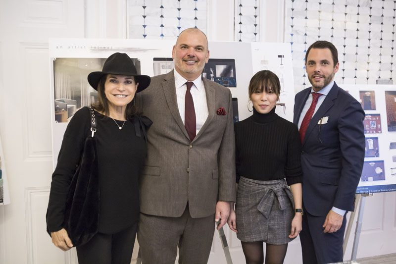 Iris Dankner, Lawrence Levy, interior designer and NYSID alumnus, Michelle Lau and David Sprouls