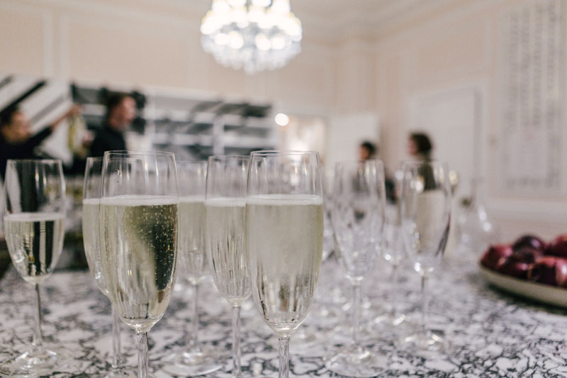 Champagne for guests.