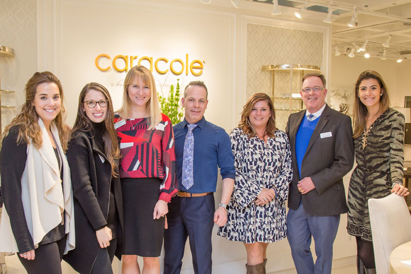 Caracole team members Holly Gordon,  Vanessa Rogers, Jenny Heinz, Matthew Rogers, Sharon Culbreth, Cameron Ward and Luiza Fogaca