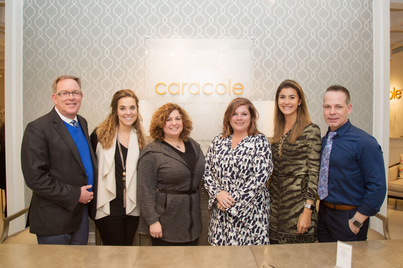 Caracole team members Cameron Ward, Holly Gordon, Laura Franzo, Sharon Culbreth, Luiza Fogaca and Matthew Rogers