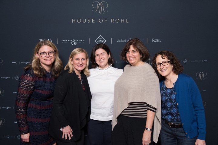Members of the Traditional Home team: Jill Waage, editor in chief; Tracy Szafarz, midwest manager; Beth McDonough, publisher; Victoria Carra, senior account manager; and Sally Finder, senior architecture and design editor