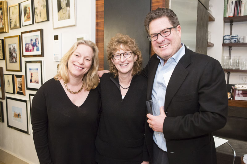 Sabine Rothman, Hearst Design Group; Lisa Kravet of Kravet; and David Klaristenfeld
